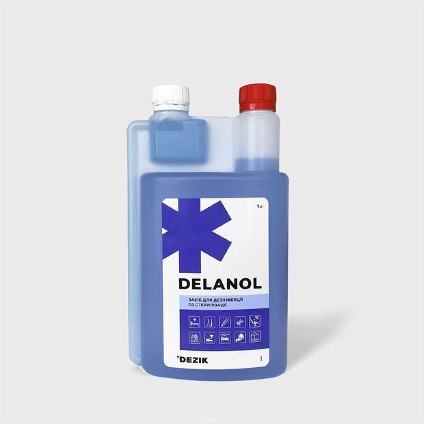 Деланол - средство для дезинфекции, ПСО и стерилизации инструментов от Dezik, 1л